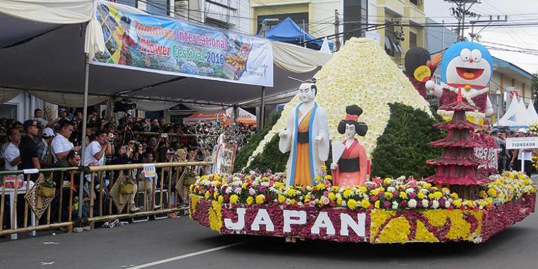 135.000 Wisman Kunjungi Festival Bunga Tomohon