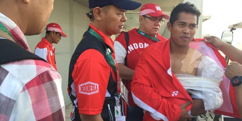 Saat Balapan Sepeda BMX Di Olimpiade, Atlet Indonesia Alami Cedera