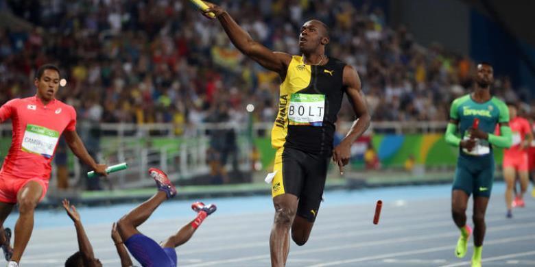 Bolt Mundur Setelah Raih Medali Emas Kesembilan