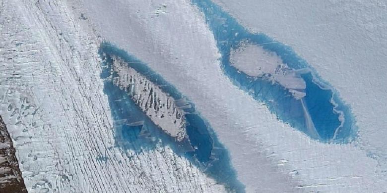 Danau-danau Cantik Bermunculan di Antartika, Pertanda Buruk bagi Dunia