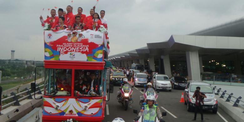 Pesta Gambar Kepulangan Peraih Medali Emas Olimpiade