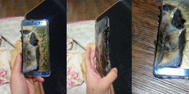 "Sedang Di-""charge"", Galaxy Note 7 Hangus Terbakar"