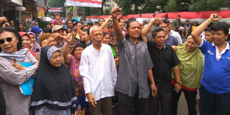 Bersama Ratna Sarumpaet, Warga Rawajati Deklarasikan Penolakan Penggusuran