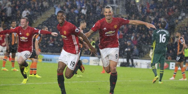 Gol Dramatis Rashford Menangkan Manchester United