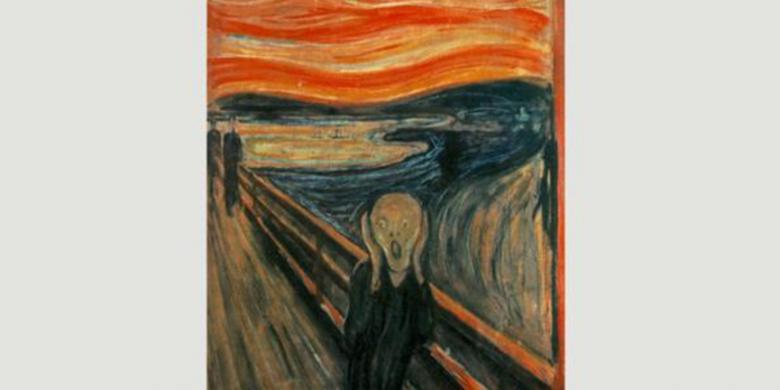 """Letusan Krakatau Dan Kisah Di Balik Lukisan """"The Scream"""" Yang Tersohor"""