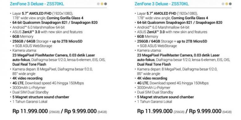 Beredar Bocoran Harga Asus Zenfone 3 Di Indonesia