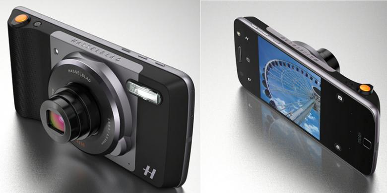 motorola moto z. motorola moto z dengan aksesori modul kamera hasselblad true zoom(motorola)