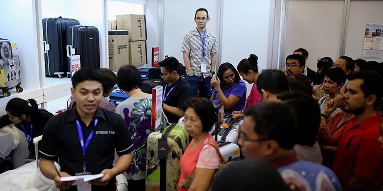 Incar Koper Condotti Hanya Rp 315.000, Pengunjung Di Stan Kompas Travel Fair Ini Membeludak