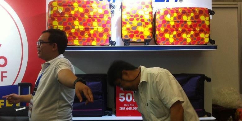 Belanja Koper Bermerek Mulai Rp 750.000 Di Kompas Travel Fair