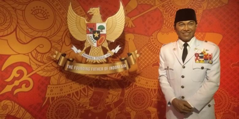 Patung lilin Presiden Soekarno di Madame Tussauds Bangkok, Thailand