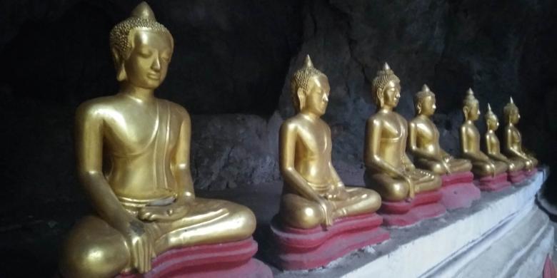 Menengok Buddha Berpakaian Di Dasar Goa Khao Luang