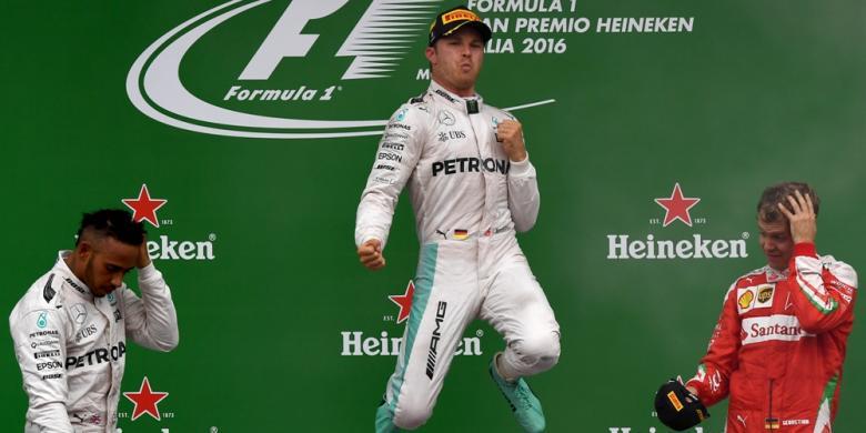 Menang Di Italia, Rosberg Kembali Tempel Hamilton Di Klasemen