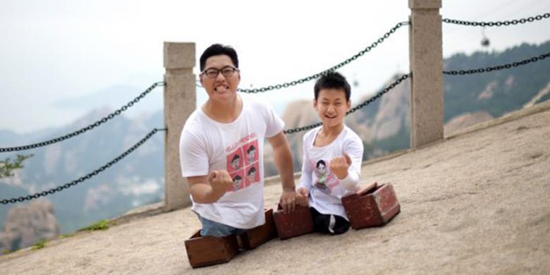Bocah 11 Tahun Tanpa Kaki Berhasil Taklukkan Gunung Di China