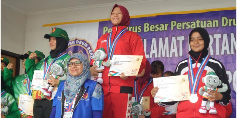 Juara Drum Band, Banten Raih Medali Emas Pertama PON 2016