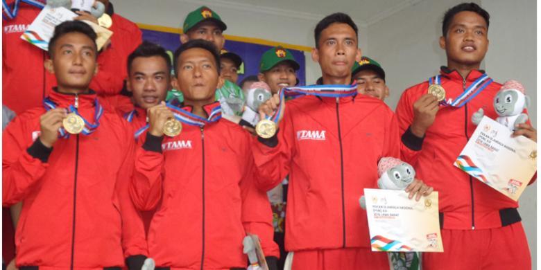 Tim Drum Band Putra Banten Juga Sabet Emas PON 2016