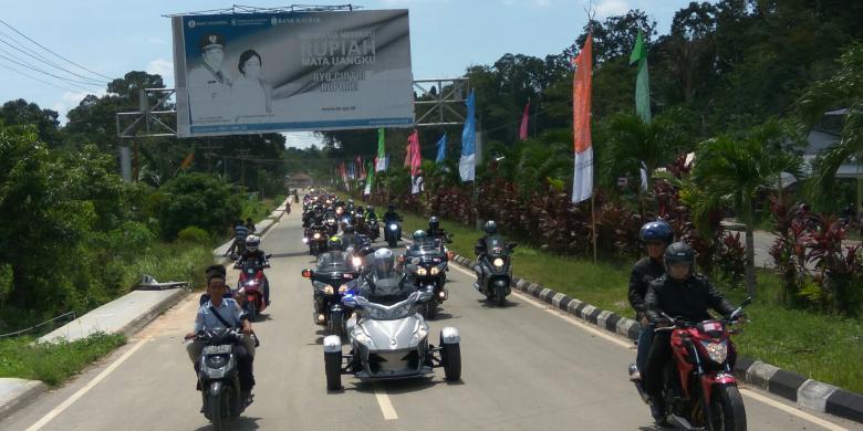 Ratusan Moge Dari Sarawak Ramaikan Festival Wonderful Indonesia Di Aruk