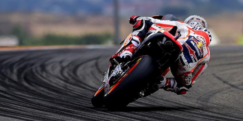 7 Pebalap Kecelakaan, Marquez Tercepat pada Latihan Ketiga GP Aragon