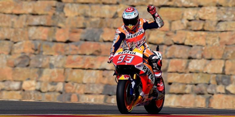 Sesi Pemanasan GP Aragon Juga Jadi Milik Marquez
