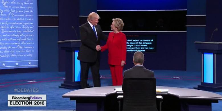 Siapa Menangi Debat Pertama Pilpres AS, Hillary atau Trump?