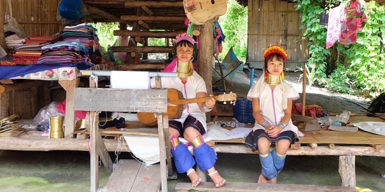 "Mengenal Suku Karen, Si ""Leher Panjang"" dari Thailand"