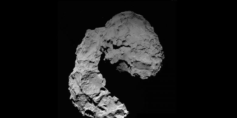 """Foto-foto Jepretan Rosetta Sebelum """"Bunuh Diri"""" di Permukaan Komet"""
