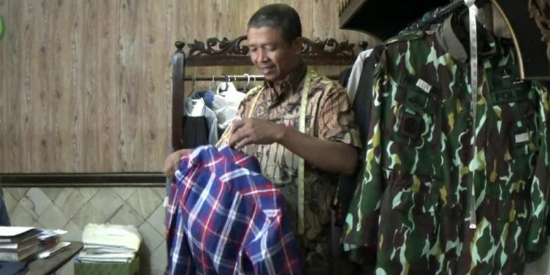 Teman Ahok Pesan Baju Kotakkotak di Penjahit Langganan Jokowi