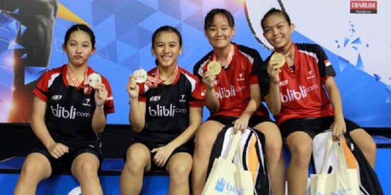 Agatha/Fadia Juara Nomor Ganda Putri Kategori U-17