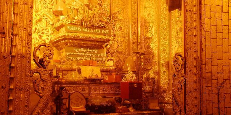 Mengintip Potongan Rambut Buddha Di Botataung Pagoda, Yangon
