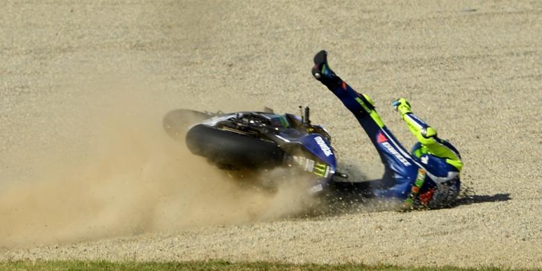 Jatuh Di Motegi, Mimpi Rossi Raih Gelar Juara Dunia Kandas