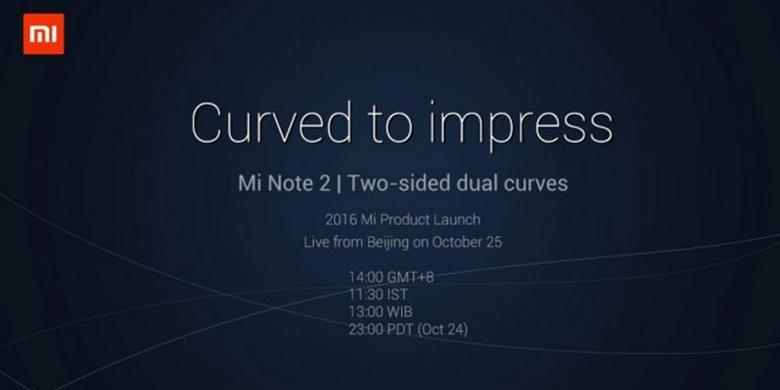 Layar Mi Note 2 Melengkung di Kedua Sisi?