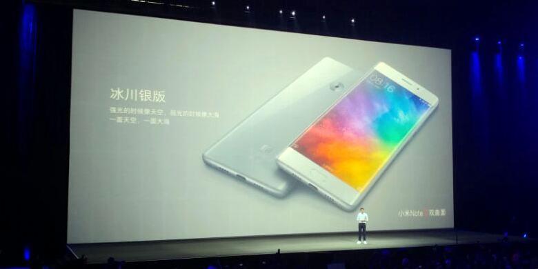 """Xiaomi Resmikan Mi Note 2 Dengan RAM 6 GB Dan Layar """"Edge"""""""