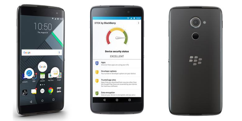 "BlackBerry Rilis ""Android Aman"" DTEK60, Dijual Rp 6,5 Juta"