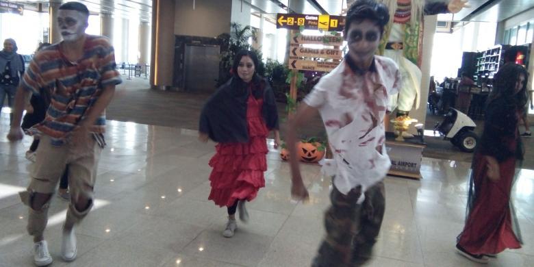 Ada Zombie Menari Di Bandara Ngurah Rai Bali