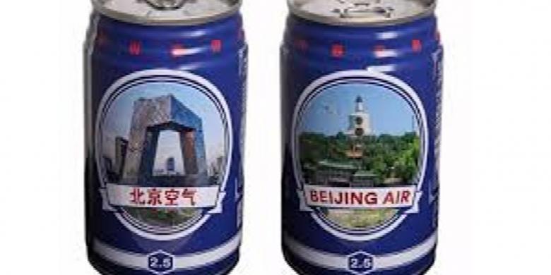 """Suvenir """"Nyeleneh"""" Dari China, Kaleng Udara Polusi"""