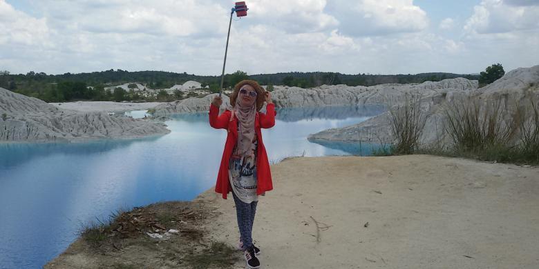 "Fenomena Langka Danau Kaolin, Spot ""Selfie"" Cantik Di Bangka"