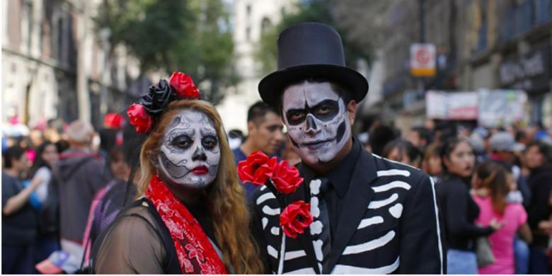 Pertama Kalinya, Parade Hari Kematian Digelar Di Mexico City