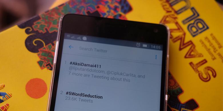 "#AksiDamai411 Teratas Di ""Trending Topic"" Dunia"