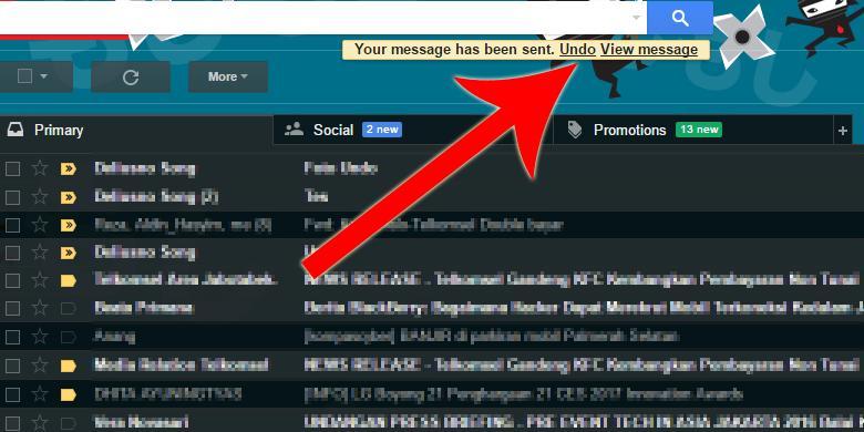 Cara Cegah Salah Kirim E-mail di Gmail
