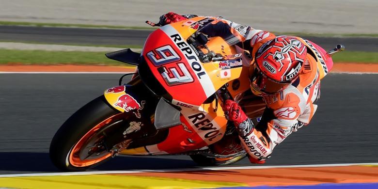 Sempat Terjatuh, Marquez Pimpin Latihan Ke-4 GP Valencia