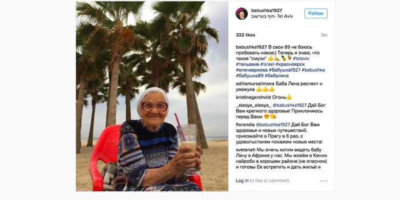 """Inspiratif, Nenek Ini """"Traveling"""" Mulai Usia 83 Tahun"""