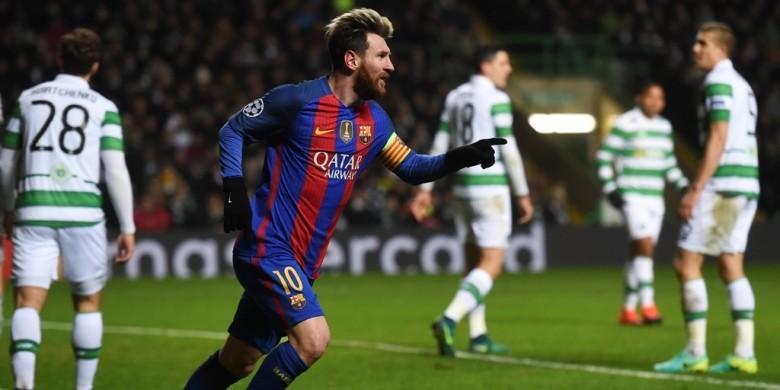 Messi Antarkan Barcelona ke Babak 16 Besar Liga Champions