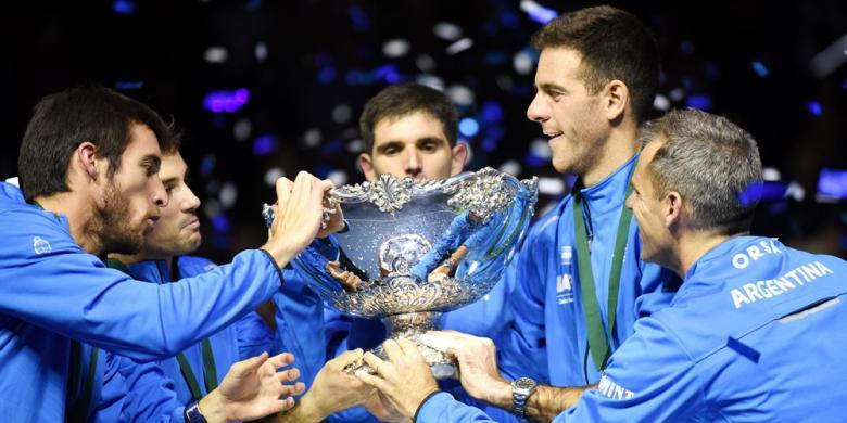 Del Potro Antar Argentina Raih Gelar Pertama Piala Davis