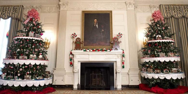 Mengintip Dekorasi Natal Di Gedung Putih, Cantiknya!