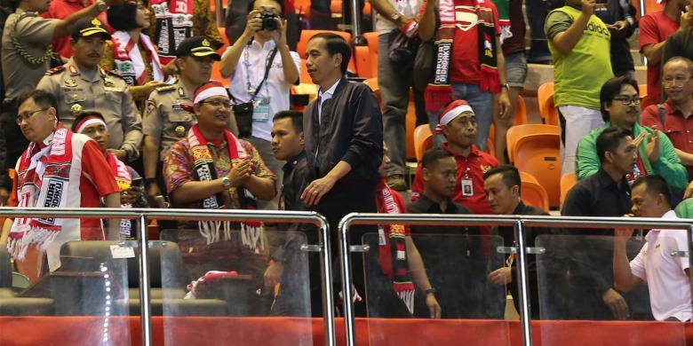 Presiden Jokowi Selamati Langsung Para Pemain Timnas