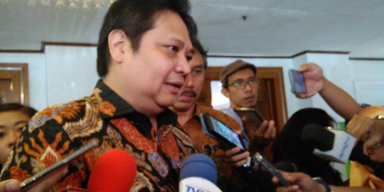 Menteri Perindustrian Airlangga Hartarto saat acara Indonesianisme Sumit 2016 di Grand Sahid Jaya, Jakarta. Sumber: Kompas