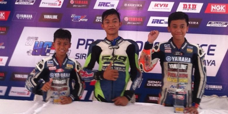 Aksi Para Pebalap Cilik Pada Yamaha Cup Race 2016