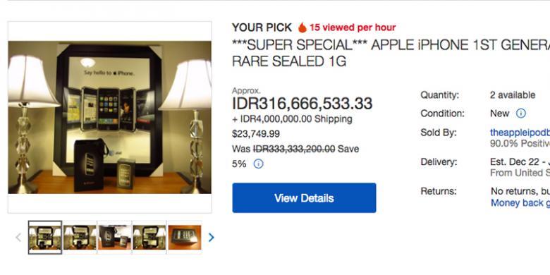 Meroketnya Harga iPhone Generasi Pertama