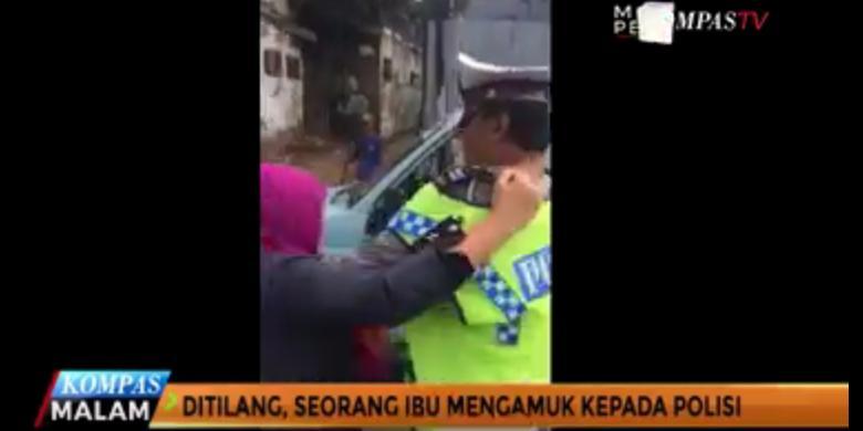 Ibu-ibu Penyerang Polisi Akan Ditindak (Video)