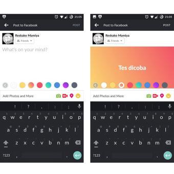 Cara Membuat Status Facebook dengan Background Warna (NEW)
