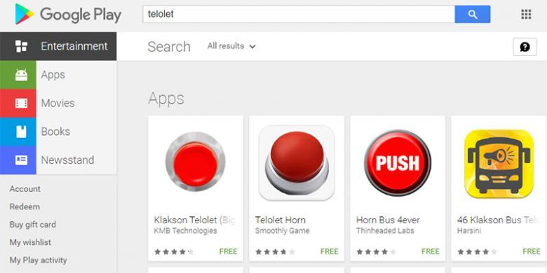 "Aplikasi Android ""Om Telolet Om"" Banjiri Play Store"